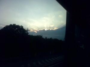 Sonnenuntergang Hakone